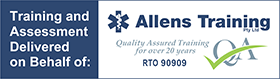 training and assessment delivered on behalf of allens training rto 90909
